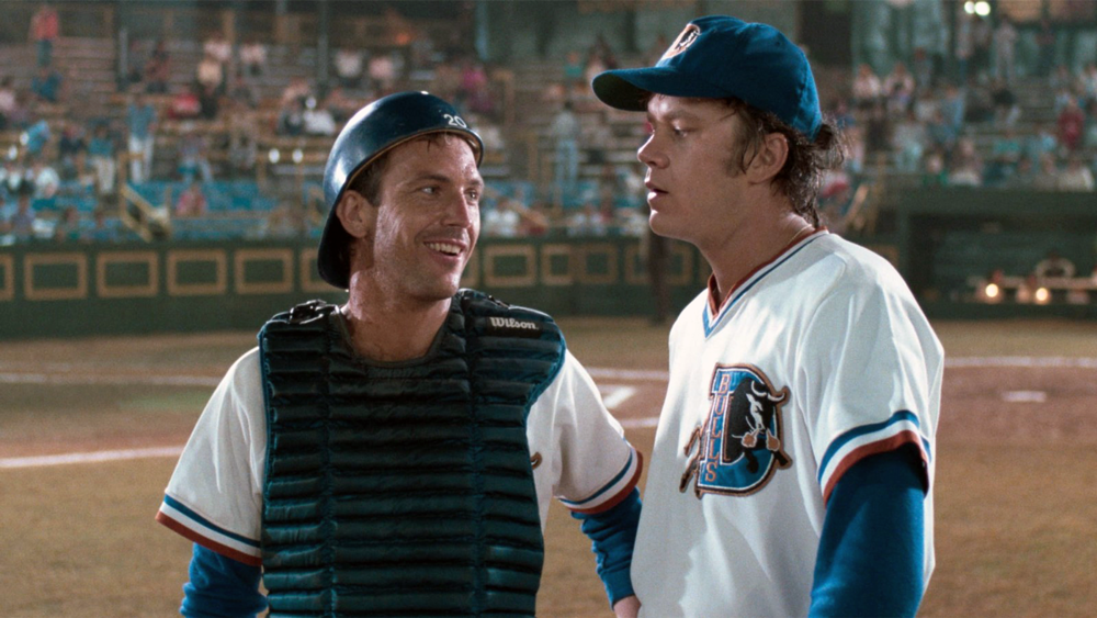 "On choosing a movie on the bus: ""I've seen Bull Durham, you know, thousands of times."""